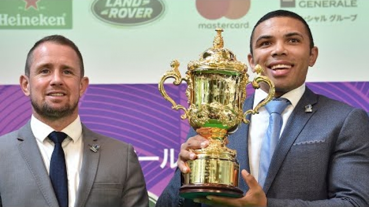 Habana and Williams take Webb Ellis Cup to Japan