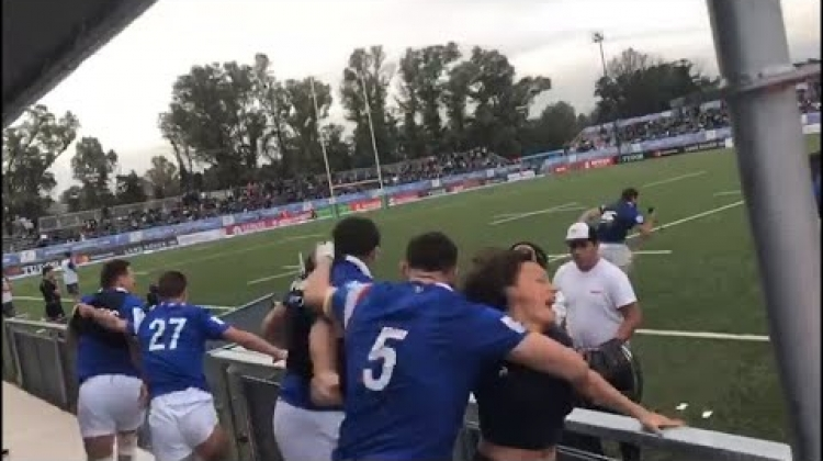 France bench goes crazy after winning U20 Championship