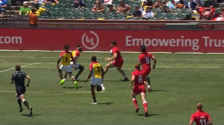 Canada's Matt Mullins shows immense strength at RWC 7s