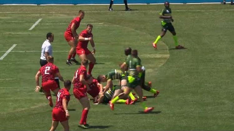 Incredible diving finish from Zimbabwe at RWC 7s