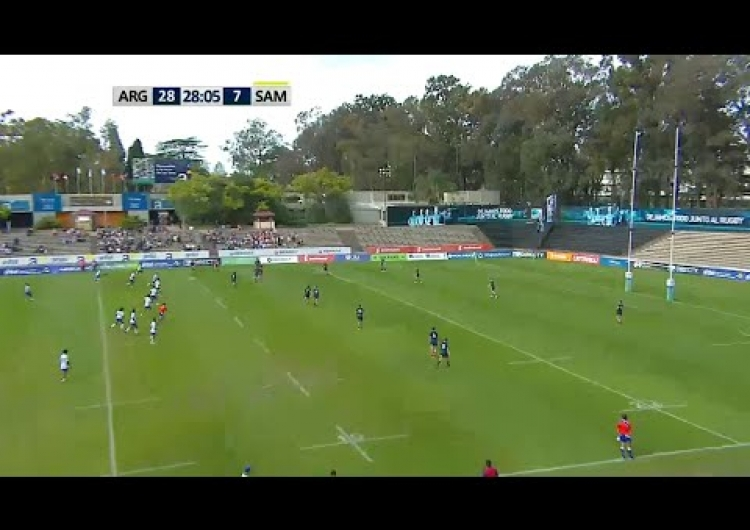 Argentina score try straight from kick off