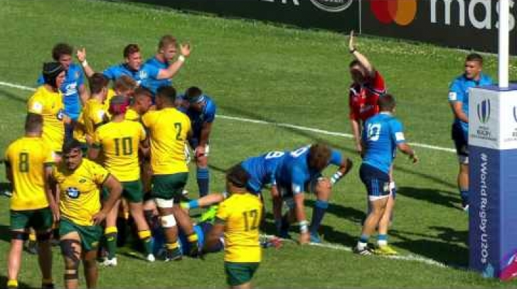 U20 Highlights: Australia score six tries v Italy