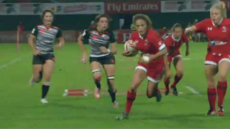 Nicholas scores first HSBC World Rugby Women's Sevens Series try