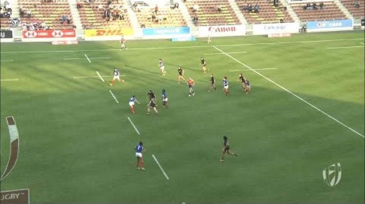 France beat Black Ferns for first time ever in sevens
