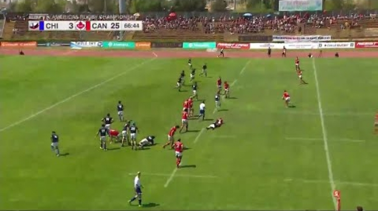 Awesome chip and chase from Canada's Andrew Ferguson - Americas Rugby Championship
