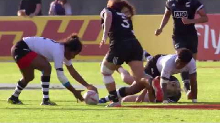 RE:LIVE: Nagasau's big tackle in Dubai!