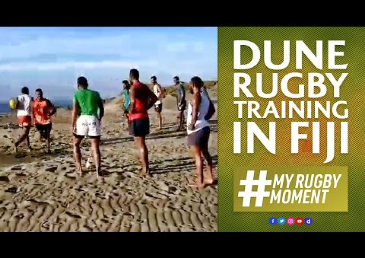 Training in the sand dunes with first light rugby | #MyRugbyMoment