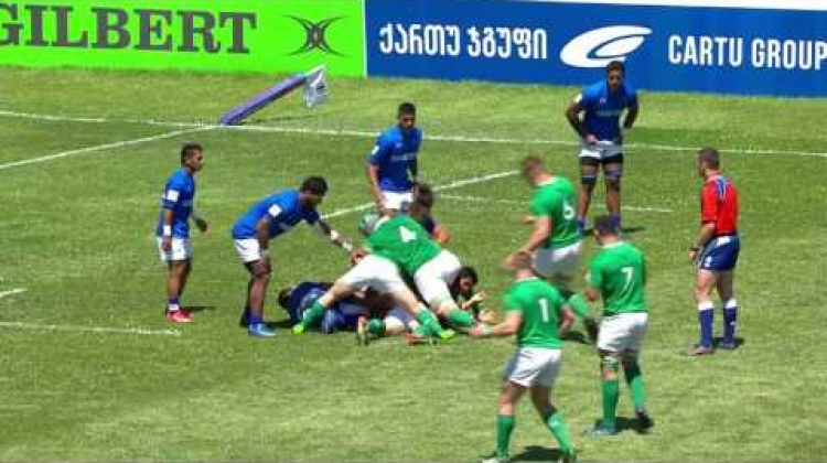 U20 Highlights: Ireland beat Samoa in 9th place semi-final