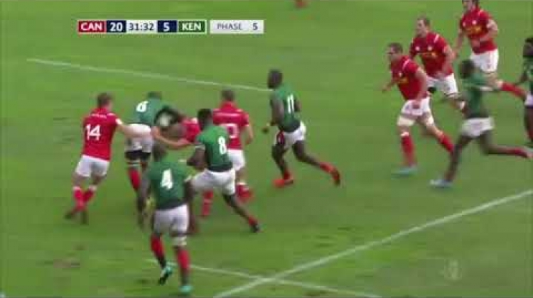 HIGHLIGHTS | Canada defeats Kenya to open RWC 2019 repechage