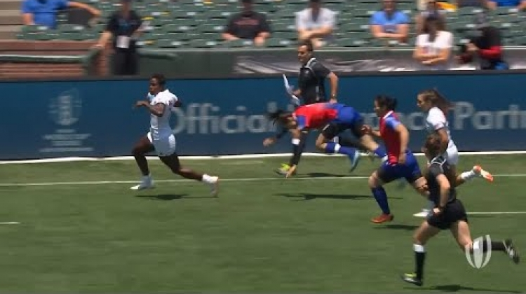 Naya Tapper scores cracking try at Rugby World Cup Sevens