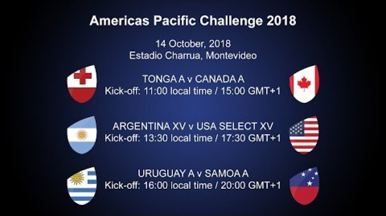 It's Tonga A v Canada A on the final match day of the World Rugby Americas Pacific Challenge!