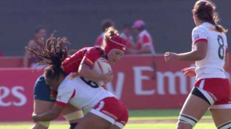 RE:LIVE! Williams AWESOME tackle at the Dubai 7s