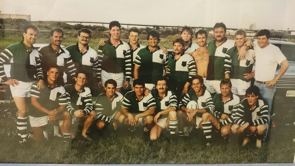 Team photo circa 1984 Regina Rogues Rugby Club