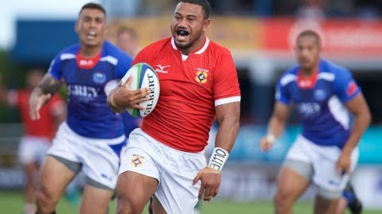 Pacific Nations Cup: Tonga's Penikolo Latu scores epic try