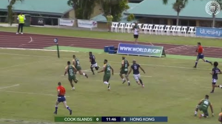 Hong Kong slice through Cook Islands in their RWC 2019 qualifier