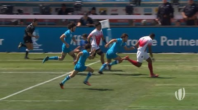Josefa Lilidamu is on a different level of skill! - Rugby World Cup Sevens 2018