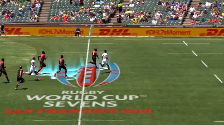 Collins Injera's pace at Rugby World Cup Sevens!