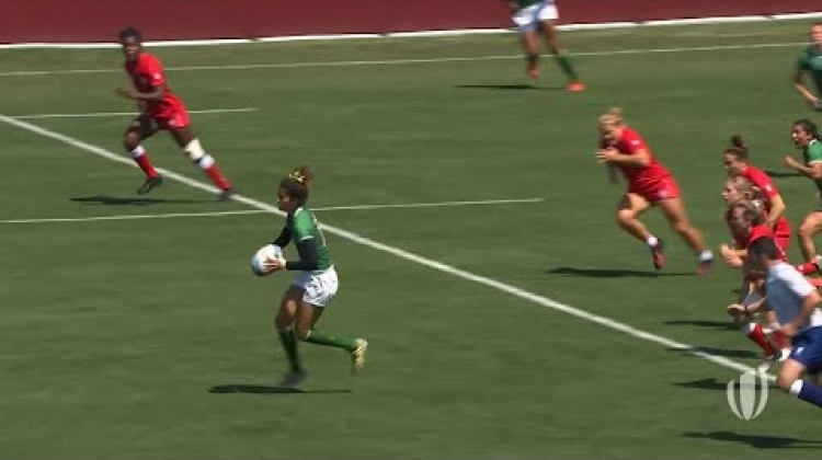 Brazil's Bianca Silva with a phenomenal score at RWC 7s