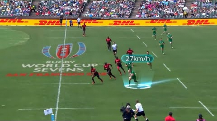 Jordan Conroy: Speed tracking at Rugby World Cup Sevens