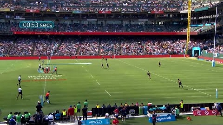 Fiji's score incredibly fast try